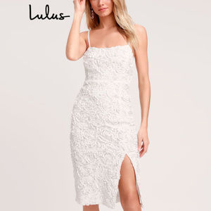 Lulu's - 'Blissful Moments' Textured Floral Midi